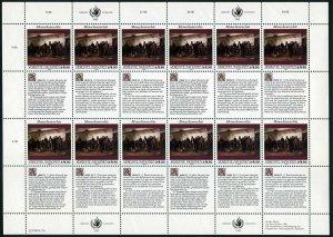 UN Vienna 108-109 sheets,MNH. Declaration of Human Rights,1990.Bihari,Harunobu.