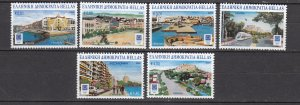 J26430  jlstamps 2004 greece set mnh #2098-2103 cities, all checked