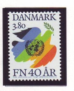 Denmark Sc 784 1985 40th Anniversary UN stamp mint NH