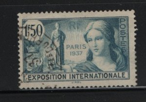 France 324 Used, 1937 Exposition Allegory
