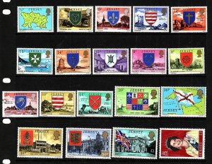 D3-Jersey-Scott#137-55-unused NH definitive set-QEII-1975-77