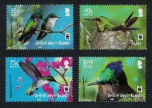 BVI WWF Hummingbird Birds 4v SG#1278-1281