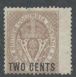 BRITISH COLOMBIA 1868 CROWN V 2C PERF 14
