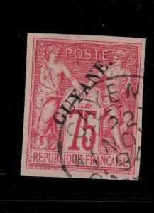 French Guiana 1892 SC 16 Used SCV $140.00
