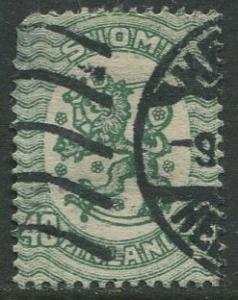 Finland - Scott 95b - Arms of Republic -1917- Used - Single 40p Stamp