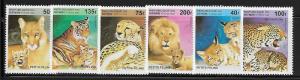 Benin 816-21 Wild Cats Mint NH