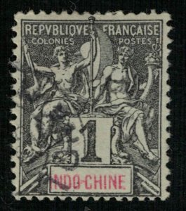 Indo-Chine 1c France 1892-1896 Inscription: INDO-CHINE (3305-Т)