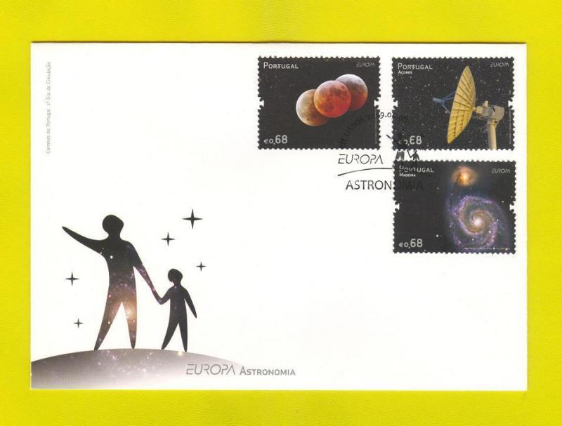 FDC PORTUGAL 2009 EUROPA CEPT ASTRONOMY ASTRONOMIE AZORES MADEIRA