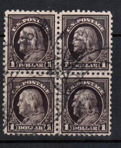 USA #460 Very Fine Used Rare Block