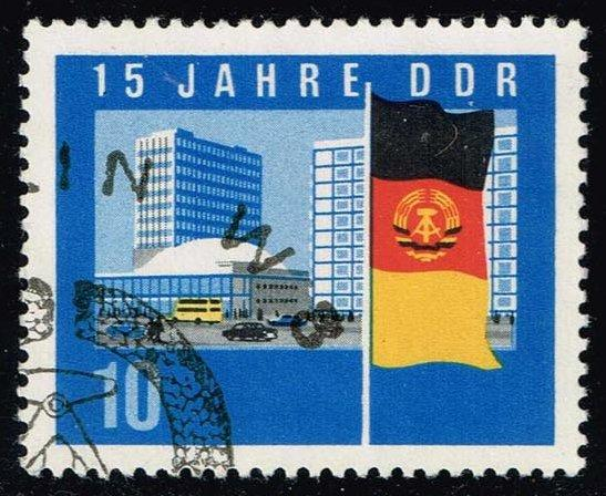Germany DDR #725 Flag and New Berlin Buildings; CTO (0.30)