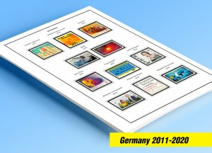 COLOR PRINTED GERMANY 2011-2020 STAMP ALBUM PAGES (89 illustrated pages)