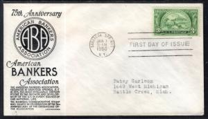 US 987 Bankers C Anderson Black Typed FDC