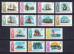 Norfolk Island - Scott #100-113 - MNH - SCV $12