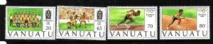 Vanuatu-Sc#569-72-unused NH set-Sports-Summer Olympics-Barcelona-1992-