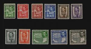 Somaliland 1938 KGVI SG 93-101,103-104 MH - Rare