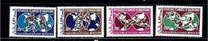 Mauritania 279-82 MNH 1970 Soccer
