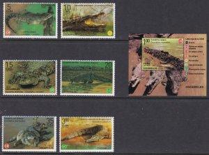 Fauna, Reptiles, Crocodiles MNH / 2020