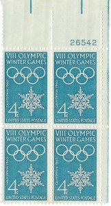 1146: Winter Olympics - Plate Block - MNH - 26542-UR