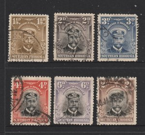 Southern Rhodesia x 6 used KGV from the 1924 series