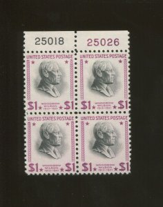 United States Postage Stamp #832g MNH Plate No. 25018 25026 Block of 4