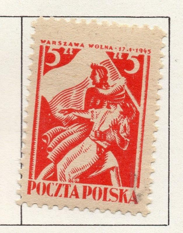 Poland 1944-46 Early Issue Fine Mint Hinged 5zt. 190931