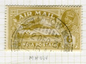 INDIA; POSTMARK fine used cancel on GV issue, Mhow