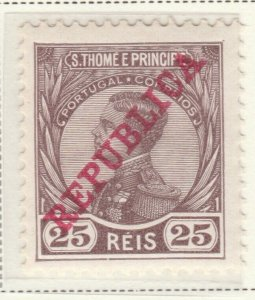 Portugal ST. THOMAS AND PRINCE ISLANDS 1912 25r MH* A5P55F40