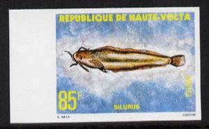 Upper Volta 1979 Freshwater Fish 85f Catfish unmounted mi...