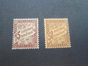 Monaco 1905 Sc J5,J9 MH