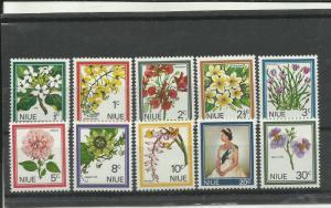 NIUE 1969,FLOWER SET MNH