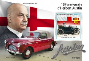 GUINEA - 2021 - Herbert Austin - Perf Souv Sheet -Mint Never Hinged