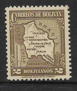 BOLIVIA  232   MNH MAP ISSUE