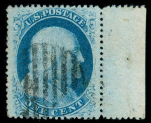 MOMEN: US STAMPS #24 USED XF PF CERT