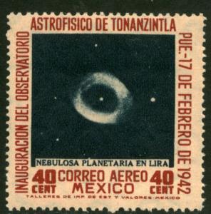 MEXICO C124, 40cts Tonanzintla Astrophysics Observ MINT, NH. F-VF.