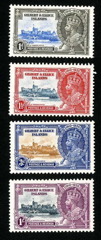 Gilbert & Ellice Stamps # 33-6 VF OG LH Set of 4