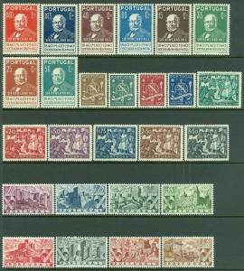 EDW1949SELL : PORTUGAL 1940-47. 4 Complete sets. Very Fine, Mint OG Catalog $212