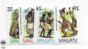 Vanuatu #384-387 MH - Stamp - CAT VALUE $3.50
