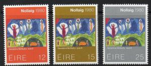 IRELAND SG471/3 1980 CHRISTMAS MNH