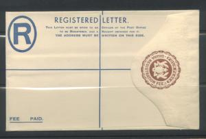 Ghana Reg'd Letter Postal Stationery MNH
