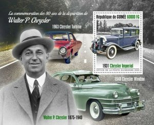 Guinea Cars Stamps 2020 MNH Walter P Chrysler Imperial Windsor Turbine 1v S/S