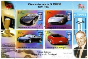 Senegal 1999 DE TOMASO Cars Sheet Perforated Fine Used