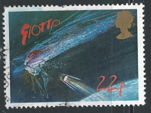 Great Britian #1134 22p Hally Comet-European Space Agency