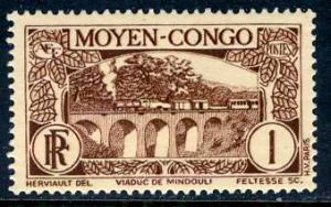 Middle Congo; 1933: Sc. # 65; */MH Single Stamp