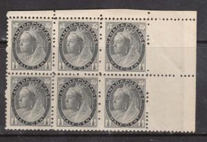 Canada #74ii NH Mint Block Of Six **With Certificate**