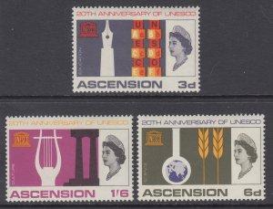 Ascension 108-110 UNESCO MNH VF