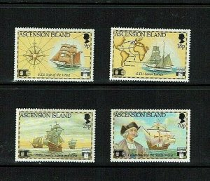 Ascension Is:1992, 500th Anniversary of the Discovery of America,  MNH set