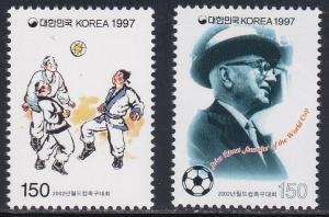 South Korea # 1903-1904, World Cup Soccer, NH 1/2 Cat