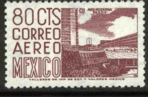 MEXICO C288, 80c 1950 Def 5th Issue Fluorescent uncoated. MINT, NH. F-VF.