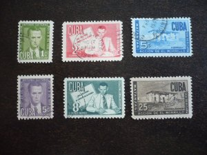 Stamps - Cuba - Scott# 466-468,C47-C49 - Used Set of 6 Stamps