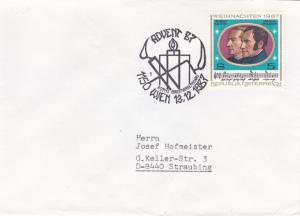 Austria 1987 Advent 87 Stamp Fair Vienna Cover VGC
